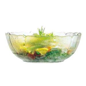 "Bowl, Fleur, 3½qt, 10½"" Round, Tempered Glass"