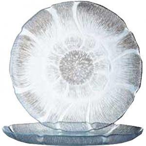 """Plate, Dessert, 7½"""", Glass, Fleur"""