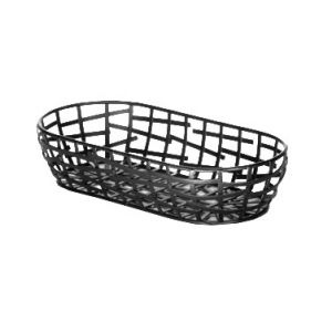 """Serving Basket, 9""""x4""""x2"""", Oblong, Black"""