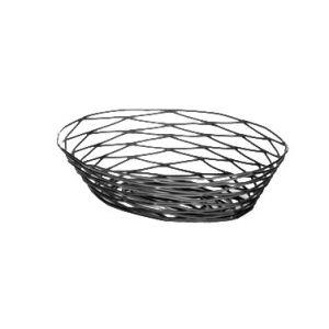 """Basket, 9""""x6""""x2¼"""", Oval, Black"""