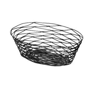 """Basket, 10""""x7""""x3¼"""", Oval, Black"""