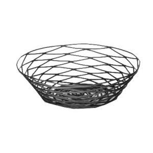 """Basket, 8""""x2"""", Round, Black"""