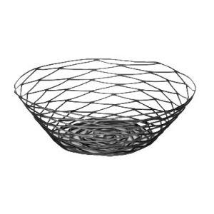 """Basket, 10""""x3"""", Round, Black"""