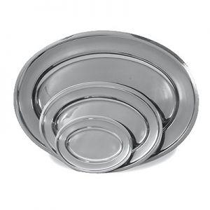 "Platter, Oval, 18"", Stainless Steel"
