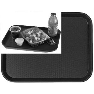 "Tray, Fast Food, 14""x18"", Black"