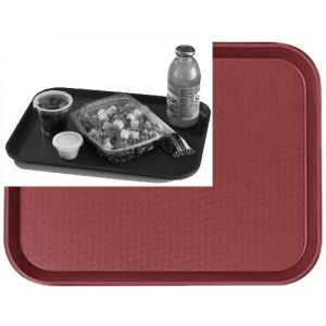 "Tray, Fast Food, 10""x14"", Cranberry"