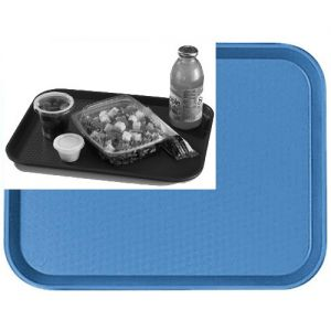 "Tray, Fast Food, 10""x14"", Light Blue"