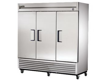 "Cooler, 78"", 3x Solid Door, 72ft³, Stainless Steel"